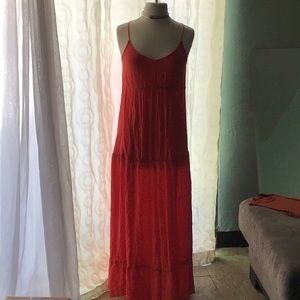 Orange flows maxi dress